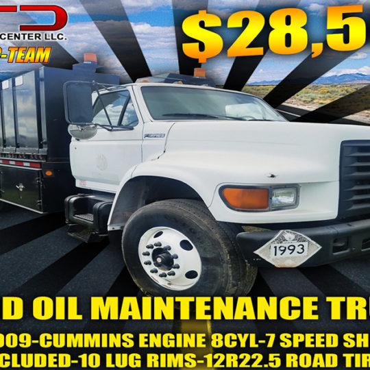 2009 Ford Oil Maintenance Truck